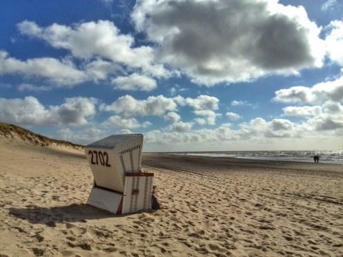 Strandkorb am Strand von Westerland