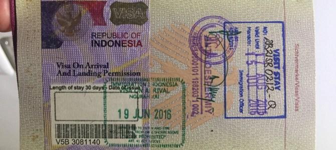 Visumsverlängerung in Indonesien oder: Wie schikaniere ich Touristen?