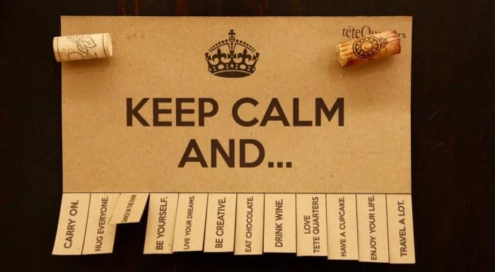 Keep Calm - im Ernstfall ist Ruhe bewahren das A und O.