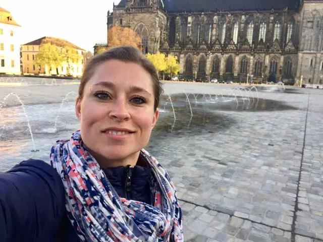 Magdeburger-Dom-Claudia Selfie