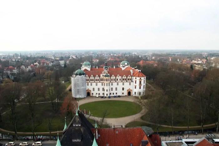 Celle von oben: das Celler Schloss