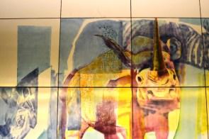 U3 in München: Thalkirchen mit Nashorn