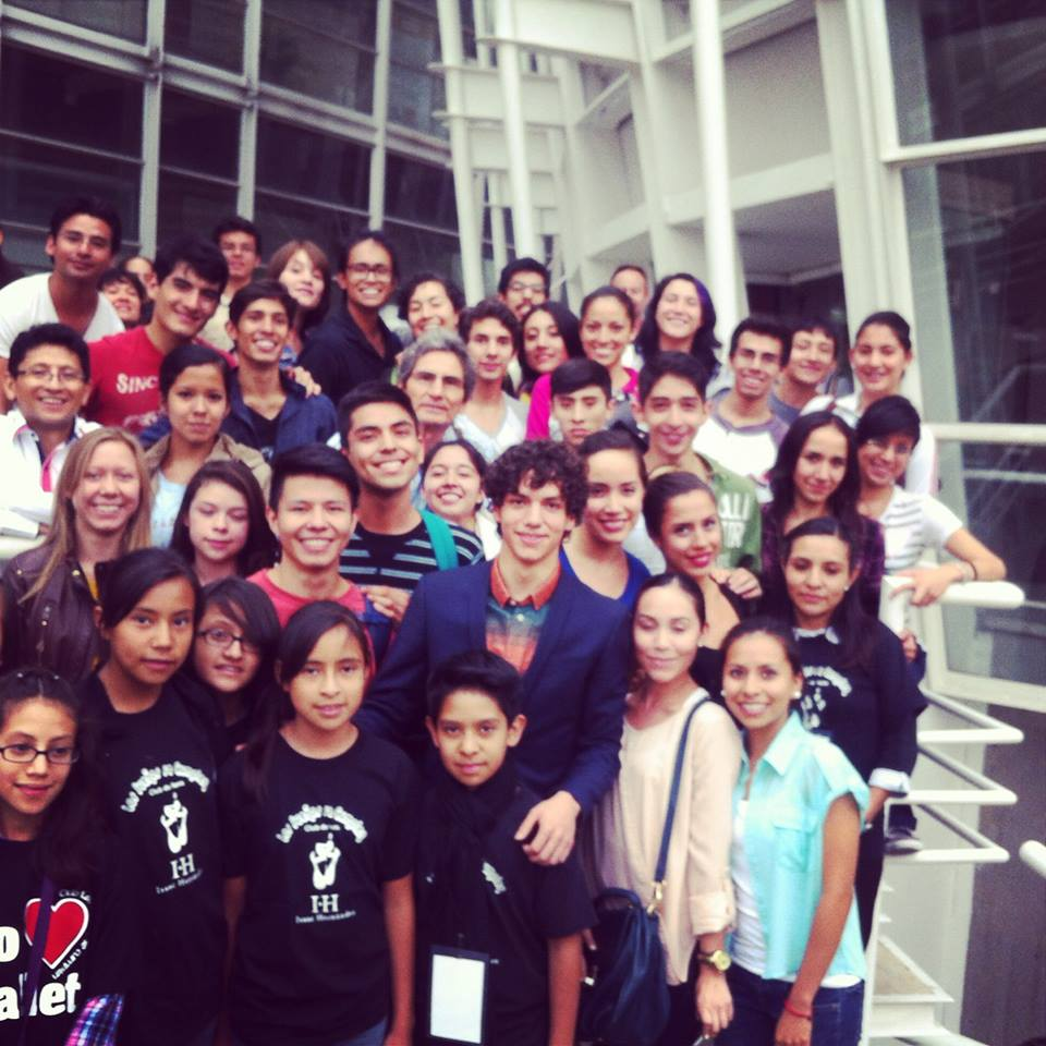 ISAAC WITH DANCE STUDENTS IN MEXICO