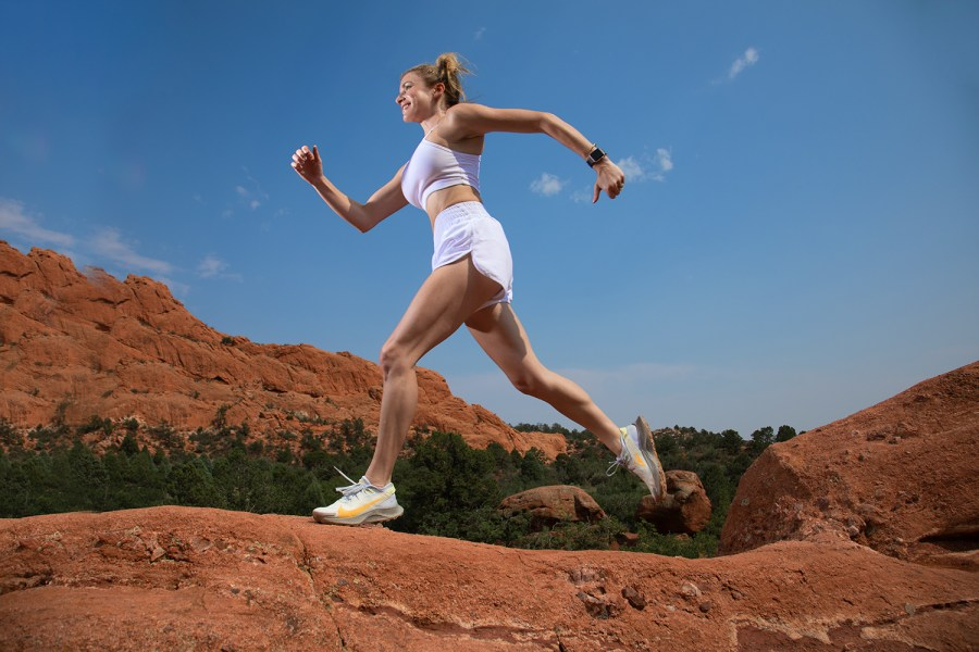 Marysia Do Running in Garden of the Gods, Colorado Springs