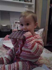 She found a taste for chocolate