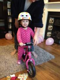 Jelly Baby got her first bike