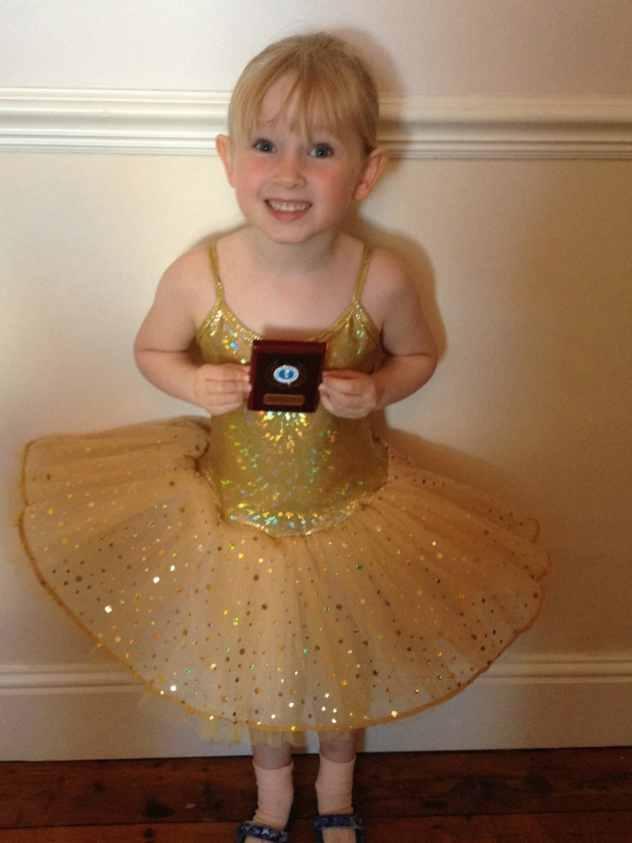 She got her first ballet award