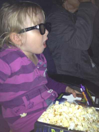 We watched a 3D film