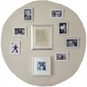 Family Photo Wall White