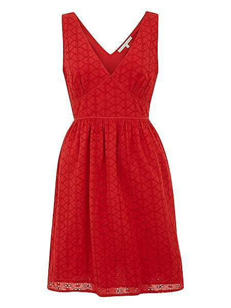 Uttam Boutique Broderie Anglaise Dress