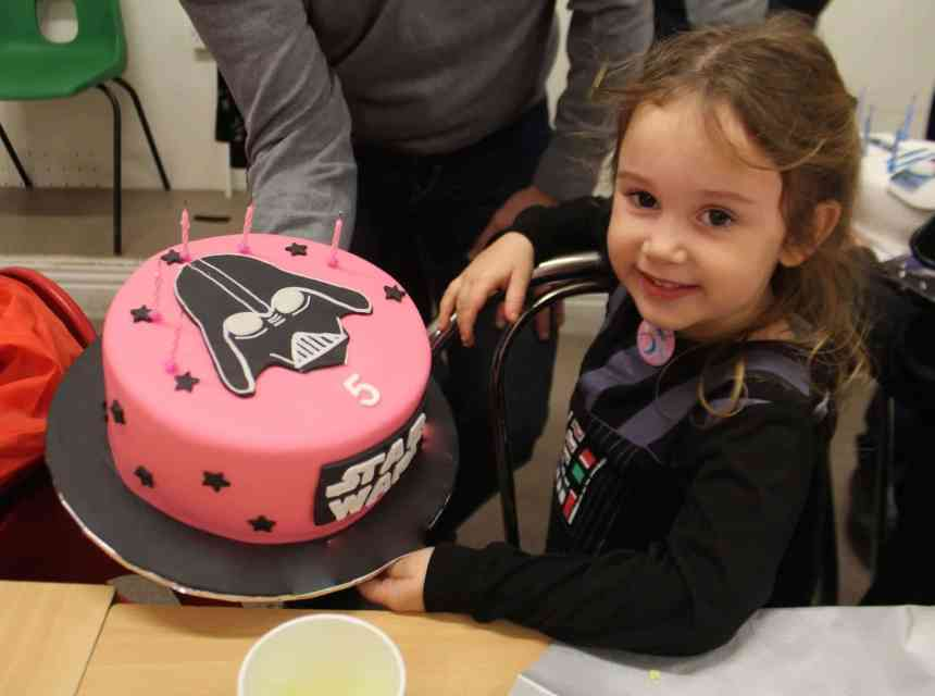 girl star wars birthday cake