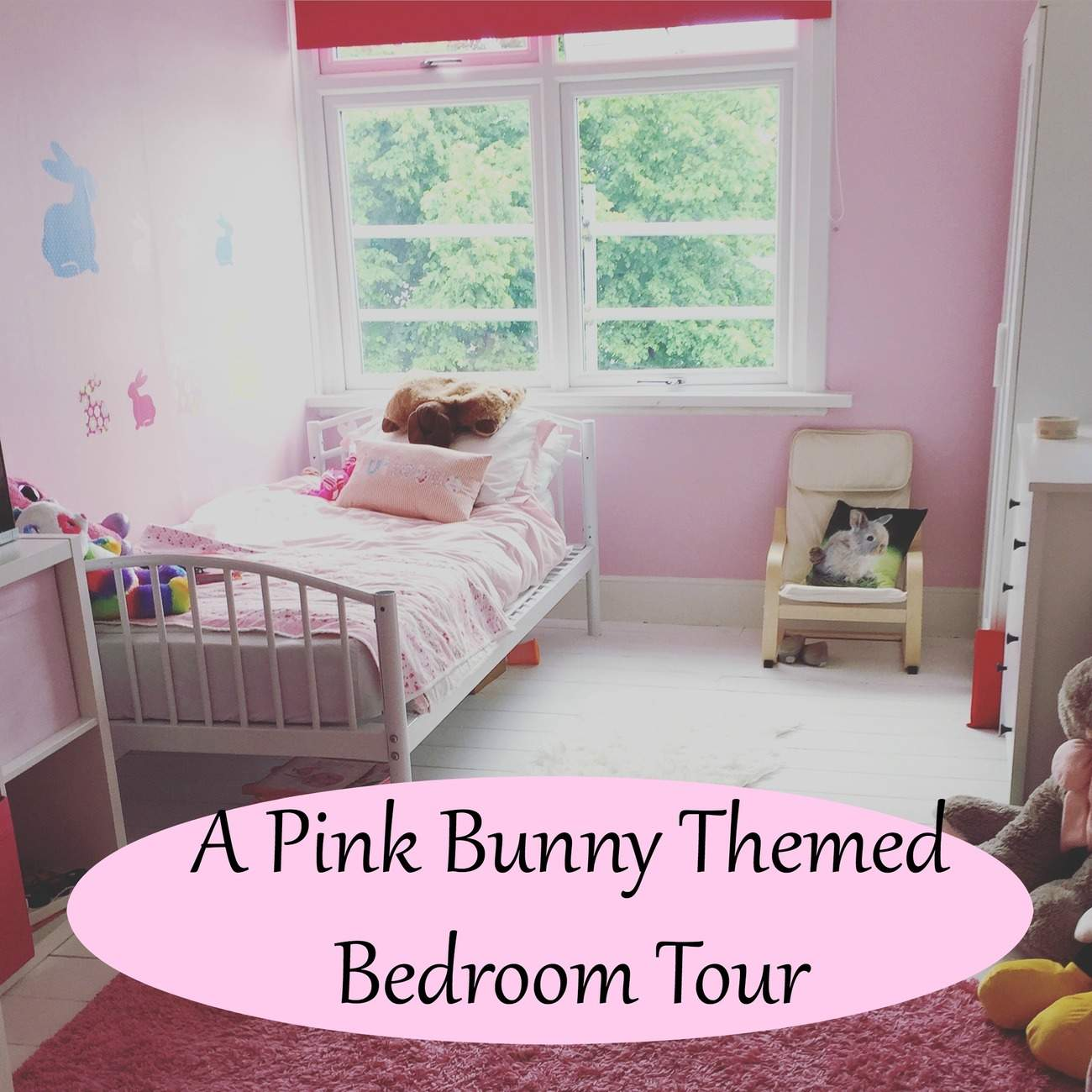 Little Miss J\'s Pink Bunny Themed Bedroom Reveal - We Made ...