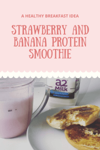 banana and strawberry protein smoothie