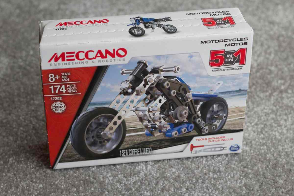 meccano 5 in 1 motorcycle