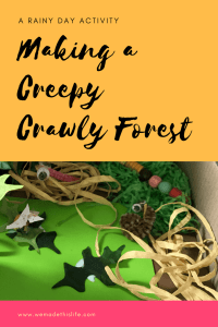 making a creepy crawly forest