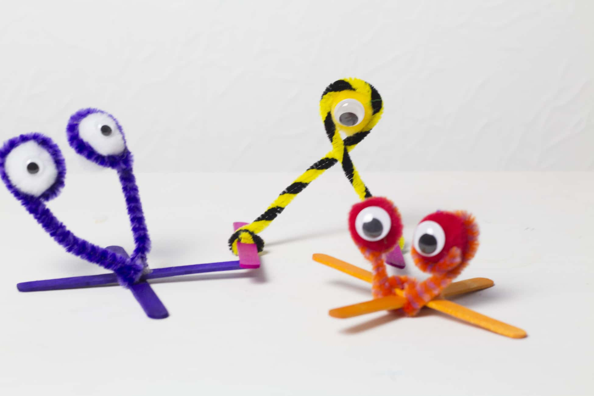 Halloween Crafts Pipe Cleaner Monsters We Made This Life
