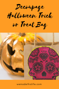 Decoupage Halloween Trick or Treat Bag