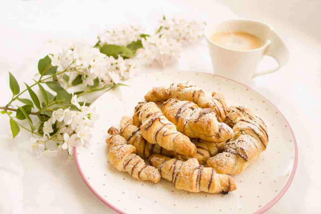 croissants and flowers