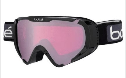BOLLE KIDS EXPLORER OTG SKI GOGGLE - SHINY BLACK WITH VERMILLON GUN LENS