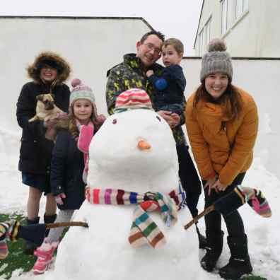 We made a snowman