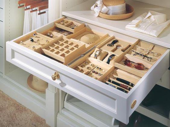 In closet jewelry drawer