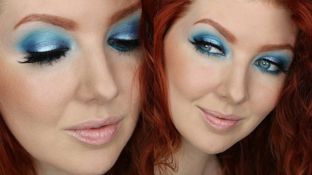 80S Eye Makeup Blue Eyeshadow Tutorial Drugstore 2 Minute Eyes Youtube