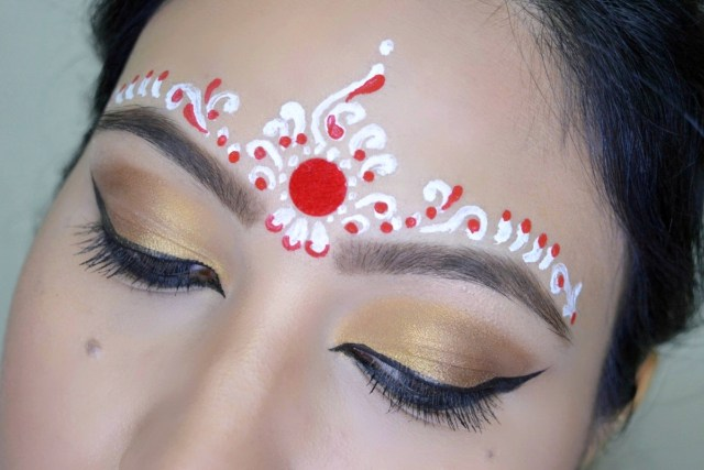 Bengali Eye Makeup My Obsession 3 Easy Bindi Designs For Bengali Bridal Makeup