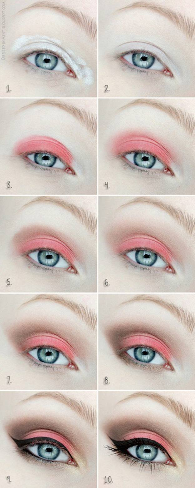 Best Way To Do Makeup For Blue Eyes Colorful Eyeshadow Tutorials For Blue Eyes Makeup Tutorials