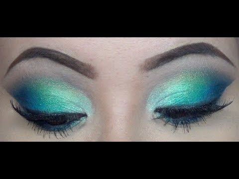 Blue Green Eyes Makeup Spring Makeup Tutorial Blue And Green Youtube