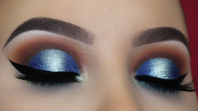 Brown And Purple Eye Makeup Brown And Blue Halo Eye Makeup Tutorial Youtube