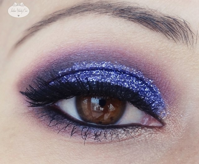 Brown And Purple Eye Makeup Indian Vanity Case Purple Glitter Eye Makeup Tutorial