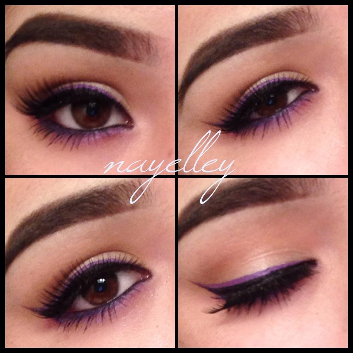 Brown And Purple Eye Makeup Makeup Nayelley Brown Eye Girl Series Purple Double Winged Eyeliner