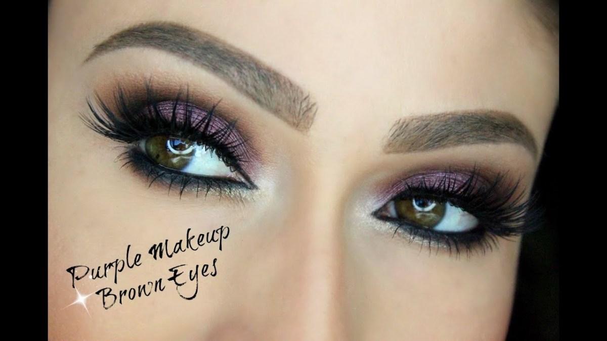 Brown And Purple Eye Makeup Purple Makeup For Brown Eyes Eye Makeup Tutorial Youtube