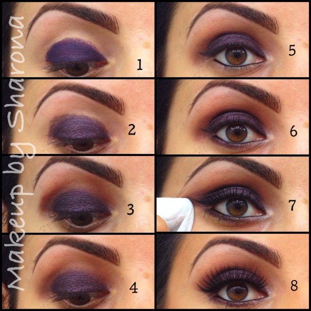 Brown And Purple Eye Makeup Purple Makeup Sharona