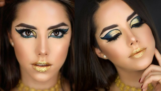 Cleopatra Eye Makeup Cleopatrapharaoh Halloween Makeup Tutorial Youtube