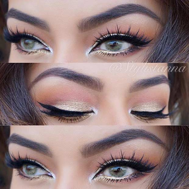 Dramatic Makeup For Small Eyes 31 Pretty Eye Makeup Looks For Green Eyes Stayglam