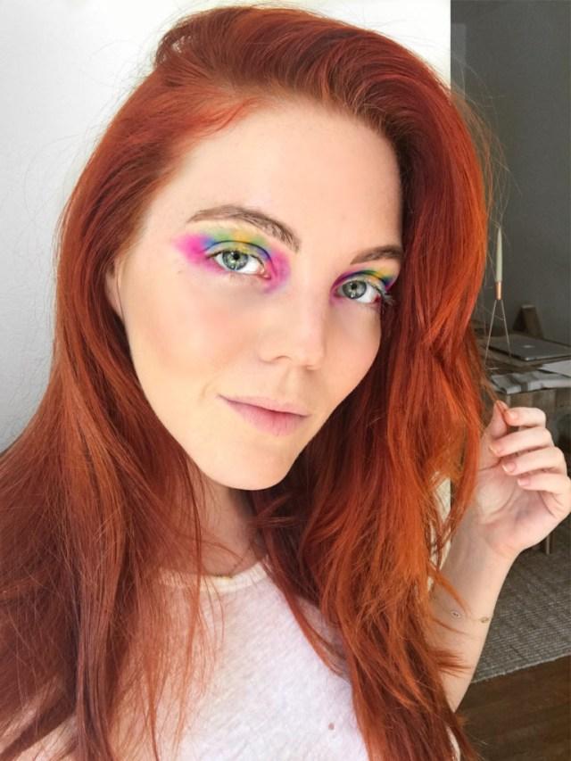 Eye Makeup Demo Heres What Happened When I Tried Rainbow Eye Makeup