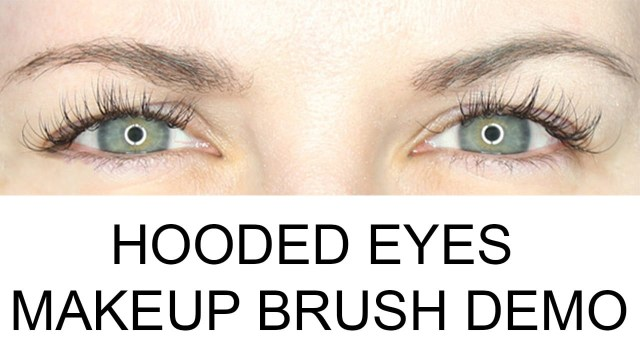 Eye Makeup Demo What Are Hooded Eyes Makeup Brush Demo Video For Hooded Eyes