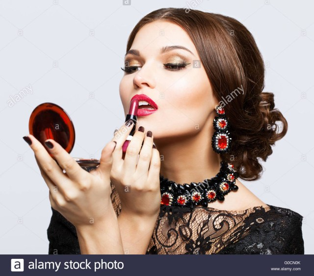 Eye Makeup For Black Dress Makeup Of Young Beautiful Brunette Woman In Black Dress With
