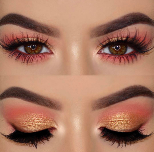 Eye Makeup For Coral Dress Bridal Hair And Makeup Ideas Best Makeup Ideas