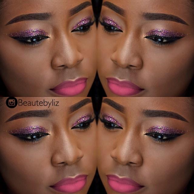 Eye Makeup For Dark Skin Dark Skin Mixed Glitter Eyes Pink Lips Makeup Tutorial Youtube