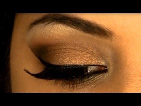 Eye Makeup For Dusky Complexion Glamorous Sexy Bronze Smokey Eye Makeup Indian Skin Tone Youtube