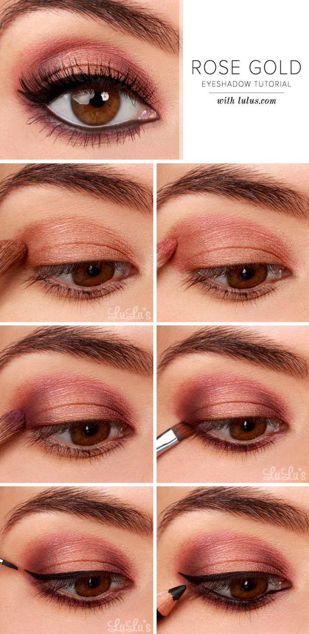 Eye Makeup Tutorials Step By Step Gorgeous Easy Makeup Tutorials For Brown Eyes Makeup Tutorials
