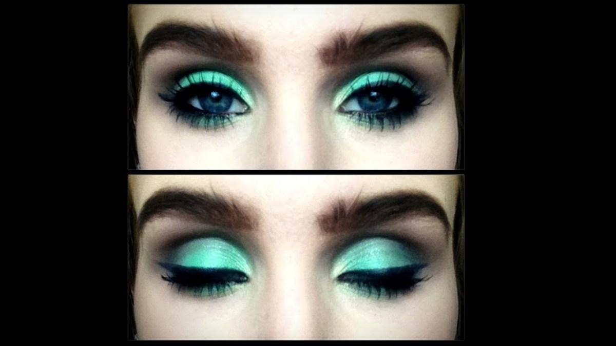 Eye Makeup With Turquoise Dress Sea Green And Warm Brown Smokey Eye Makeup Tutorial Youtube