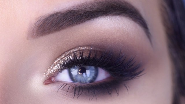 Formal Makeup Ideas For Blue Eyes Easy Prom Eye Makeup Tutorial Bronze Glitter Smokey Eye Youtube