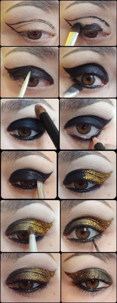Gold And Smokey Eye Makeup 25 Easy And Dramatic Smokey Eye Tutorials This Season