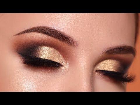 Gold And Smokey Eye Makeup Glam Gold Smokey Eye Makeup Tutorial Eye Makeup Art