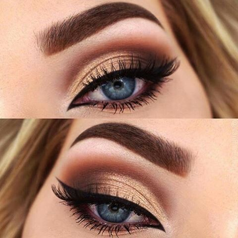 Gold And Smokey Eye Makeup Makeup Gold Smokey Eye 2796139 Weddbook