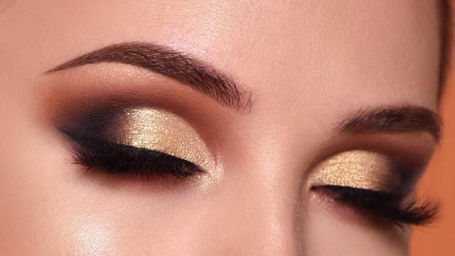 Gold Eye Makeup Tutorial Glam Gold Smokey Eye Makeup Tutorial Morphe 35o2 Palette Youtube