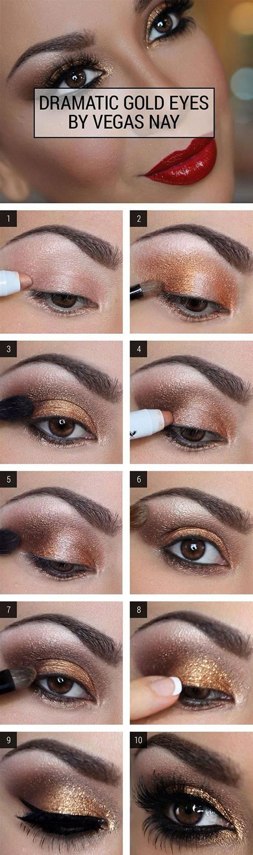 Gold Eye Makeup Tutorial How To Do Smokey Eye Makeup Top 10 Tutorial Pictures For 2019